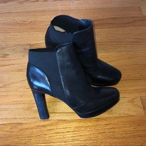 Black heel short boot